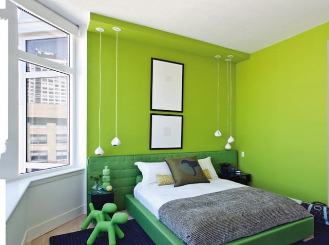 Guide d co chambre vert for Maison deco chambre