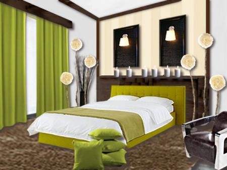 mod le d co chambre vert. Black Bedroom Furniture Sets. Home Design Ideas