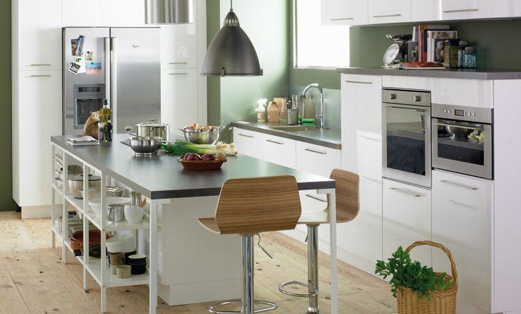 Superior Deco Salon Salle A Manger #1: Photo-deco-deco-cuisine-blanc-guide.jpg