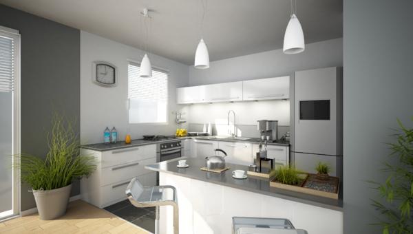 Idee Petite Salle De Bain Avec Wc : déco cuisine moderne