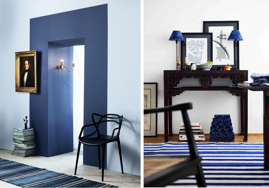 Salle manger bleu d co sphair for Decoration chambre style marin