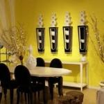 déco salle à manger jaune