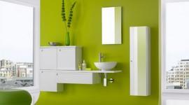 déco salle de bain vert
