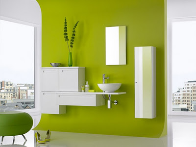 Guide d co salle de bain vert - Salle de bain vert anis ...