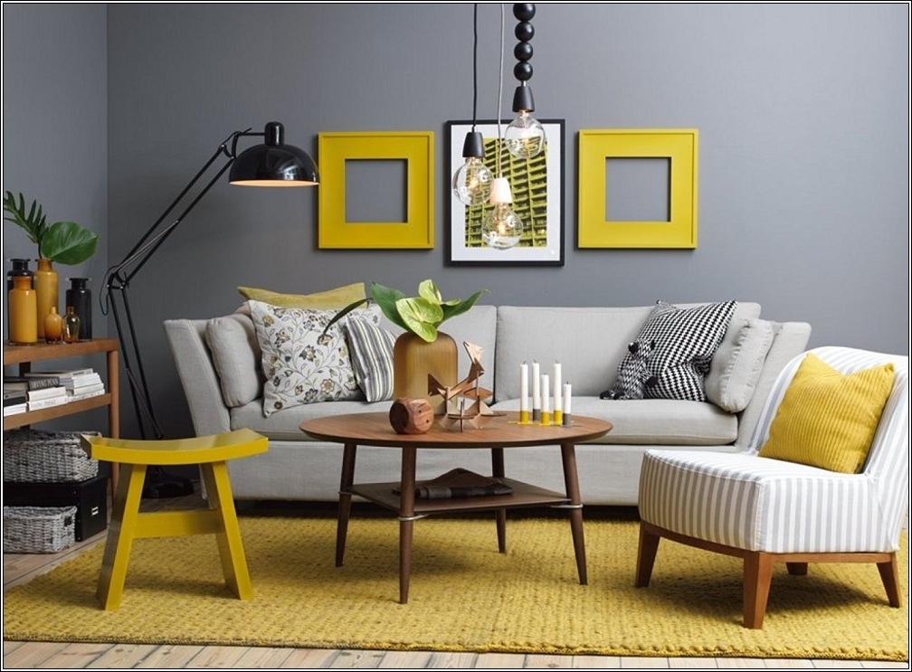 inspiration d co salon jaune. Black Bedroom Furniture Sets. Home Design Ideas