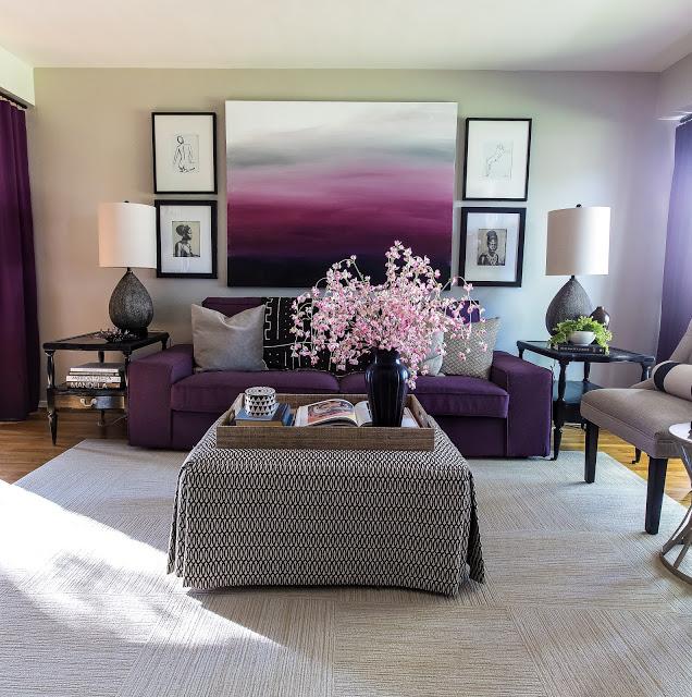 conseil d co salon violet. Black Bedroom Furniture Sets. Home Design Ideas