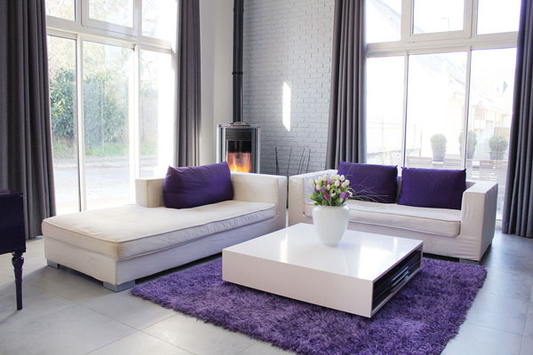 D co salon violet - Decoration salon violet ...