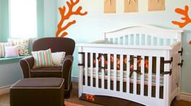 décoration chambre bébé orange