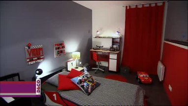 style d coration chambre gris et rouge. Black Bedroom Furniture Sets. Home Design Ideas