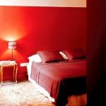 décoration chambre rouge