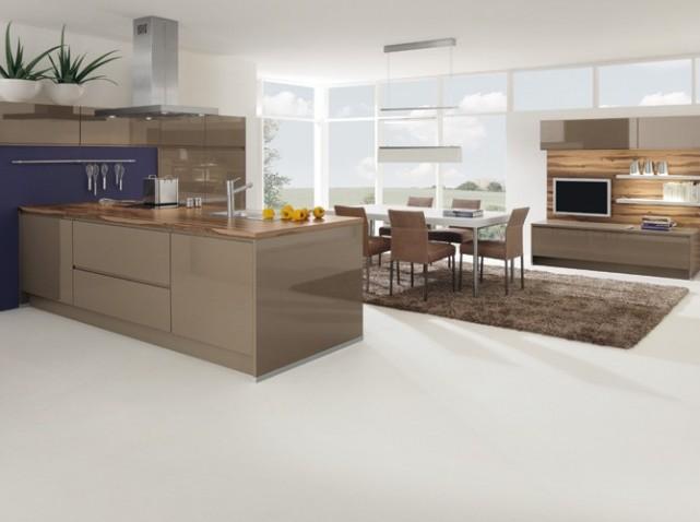 Chaise Cuisine Tissu : modèle décoration cuisine beige
