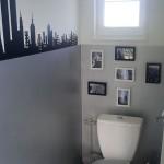 décoration wc - toilettes gris