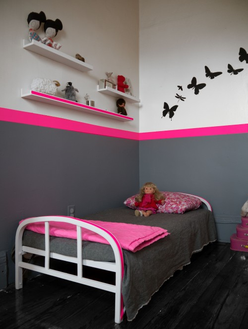 Mod le id e d co chambre b b rose for Modele chambre rose