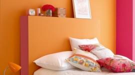 idée déco chambre orange