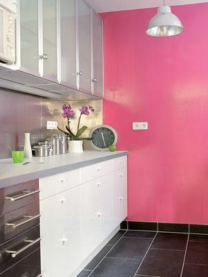 Mod le id e d co cuisine rose for Deco cuisine rose