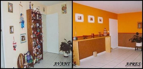 Id e d co salle manger orange for Decoration maison orange