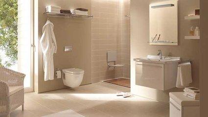 inspiration idée déco salle de bain beige