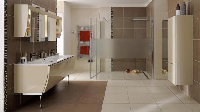 Quelle id e d co salle de bain beige for Salle de bain idee deco