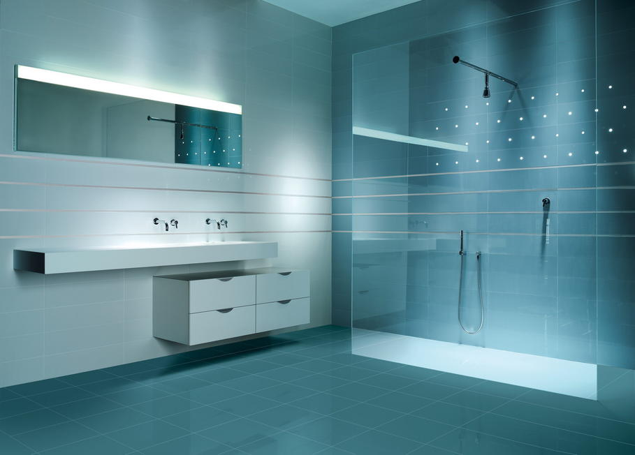 Photo id e d co salle de bain moderne for Salle de bain moderne houzz