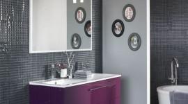 idée déco salle de bain prune