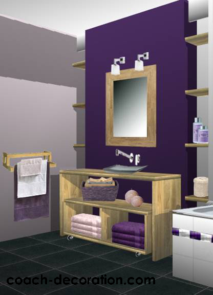 Awesome Salle De Bain Beige Et Prune Gallery - House ...