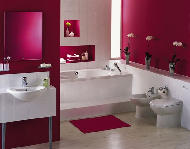 Photo id e d co salle de bain rose for Deco salle de bain rose pale