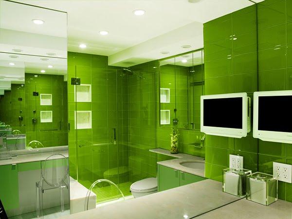 Conseil id e d co salle de bain vert for Deco salle de bain vert