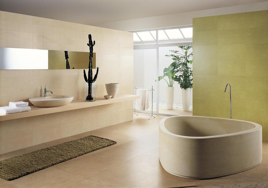 idée déco salle de bain vert
