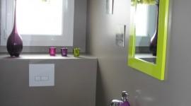idée déco wc - toilettes prune