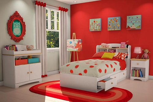 ambiance chambre b b rouge. Black Bedroom Furniture Sets. Home Design Ideas