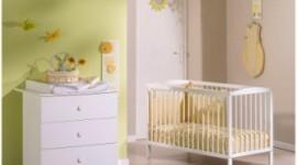 ambiance chambre bébé vert