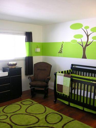 Style ambiance chambre b b vert for Ambiance chambre bebe