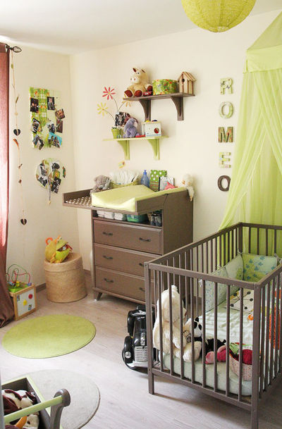 Ambiance chambre fille vert for Ambiance chambre fille