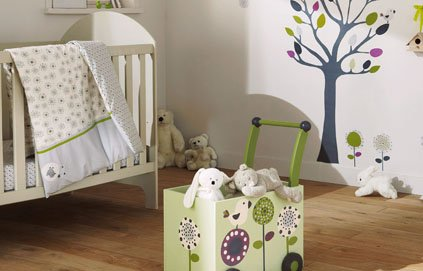 Jolie ambiance chambre fille vert for Ambiance chambre fille