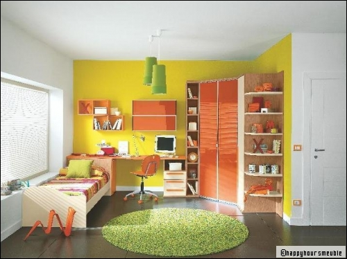 Inspiration ambiance chambre gar on jaune for Faux plafond chambre garcon