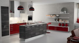 ambiance cuisine rouge