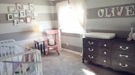 déco chambre bébé gris et rouge