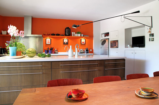D co cuisine orange for Decoration maison orange