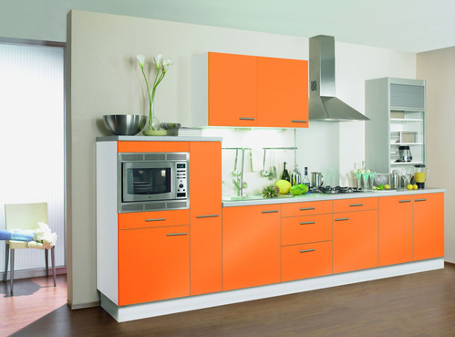 Style d co cuisine orange for Deco cuisine orange blanc