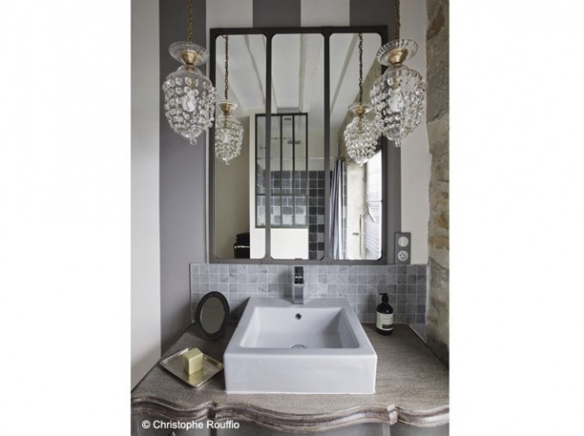 style d co salle de bain industriel. Black Bedroom Furniture Sets. Home Design Ideas