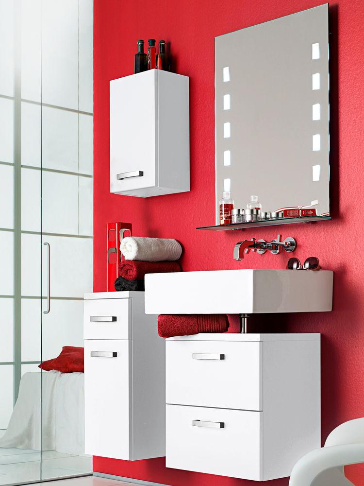 Guide d co salle de bain rouge for Deco salle de bain rouge