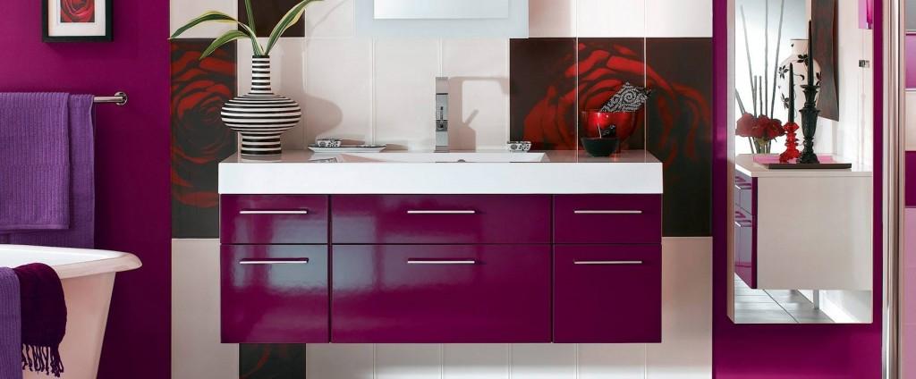 Guide d co salle de bain violet for Salle de bain violet