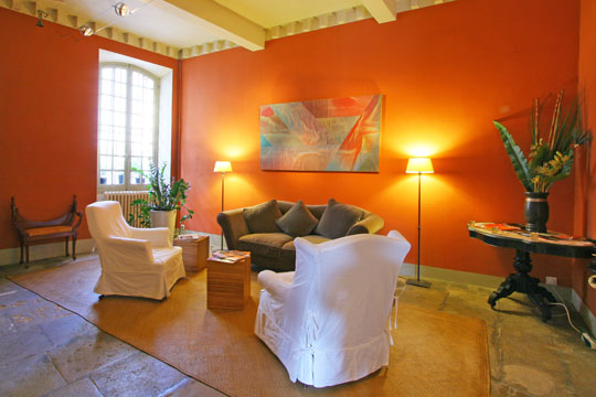 Mod le d co salon orange for Decoration maison orange