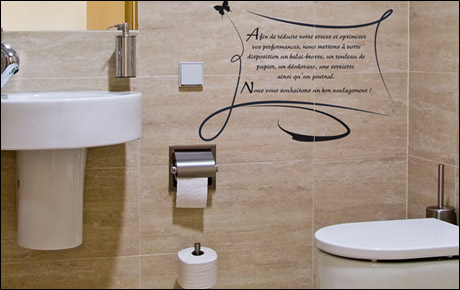 D co wc toilettes stickers - Decoration des toilettes design ...