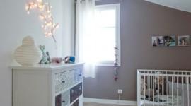 décoration chambre fille gris et blanc