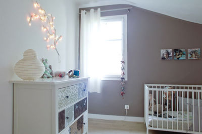 D coration chambre fille gris et blanc for Decoration chambre fille