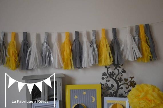 D coration chambre fille jaune for Decoration chambre jaune