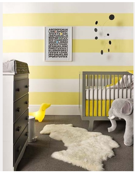 Inspiration d coration chambre fille jaune for Decoration maison jaune