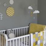 décoration chambre fille jaune