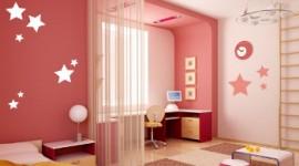 décoration chambre fille rouge